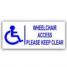 1 x Disabled Wheelchair Access Sticker-Disability Sign-200mm-Wheelchair,Disability Sticker-Self Adhesive Vinyl